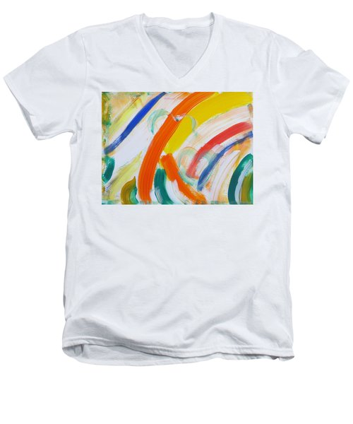 Men's V-Neck T-Shirt featuring the painting Souls by Sonali Gangane