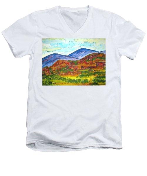 South Mesa Dark Men's V-Neck T-Shirt