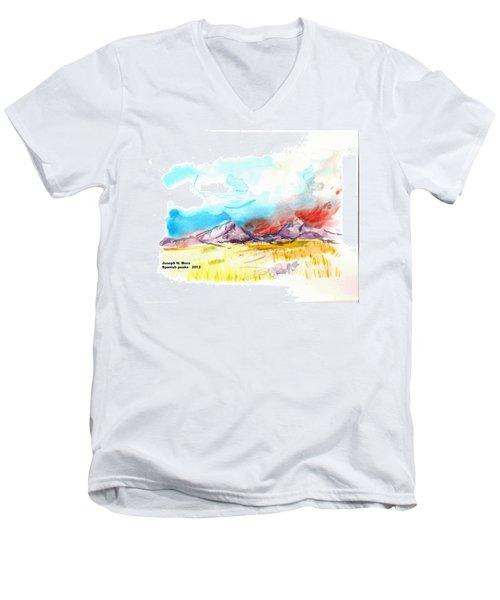 Spanish Peaks Study Men's V-Neck T-Shirt