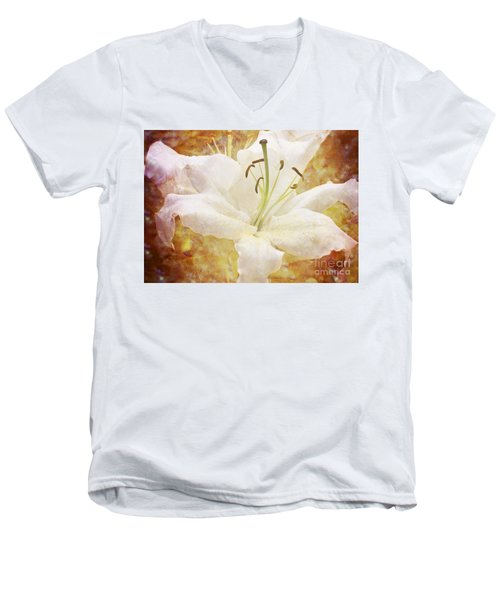 Sparkling Lily Men's V-Neck T-Shirt