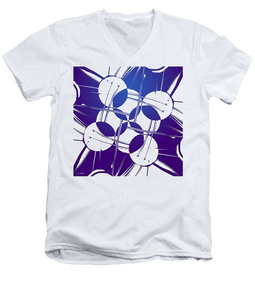 Men's V-Neck T-Shirt featuring the photograph Square Circles by Lauren Radke