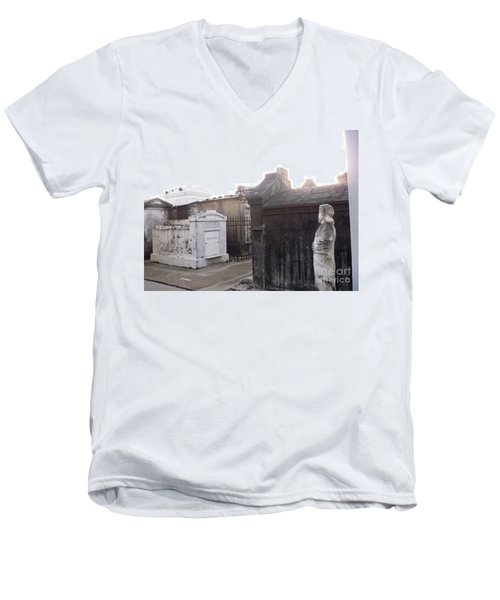 Men's V-Neck T-Shirt featuring the photograph Standing Guard by Alys Caviness-Gober