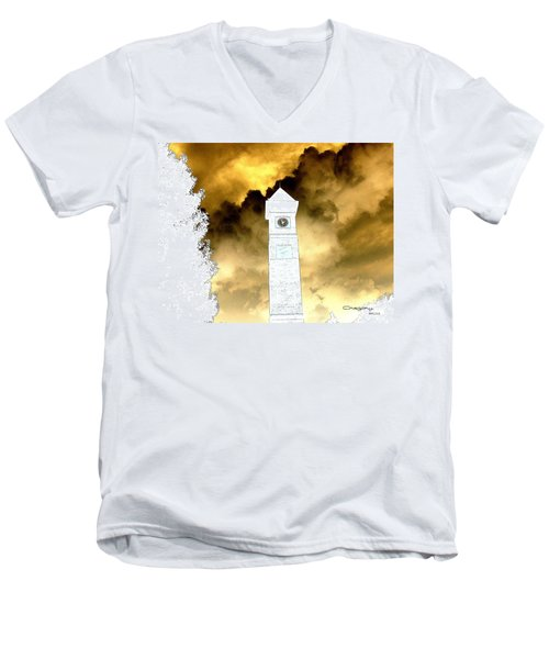 Men's V-Neck T-Shirt featuring the photograph Storm Clouds by Greg Moores
