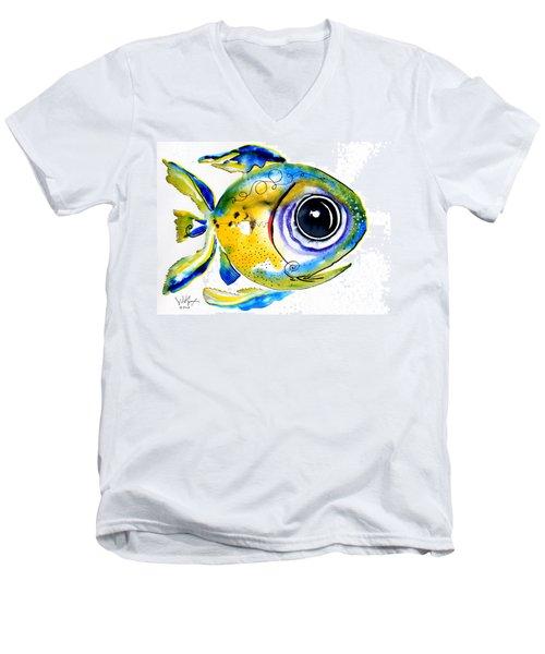Stout Lookout Fish Men's V-Neck T-Shirt