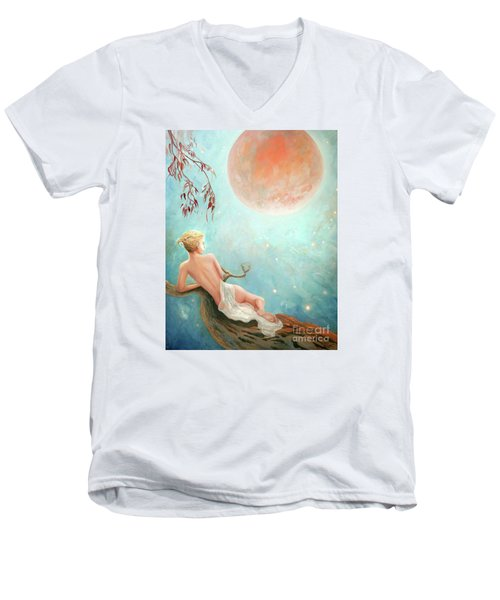 Strawberry Moon Nymph Men's V-Neck T-Shirt