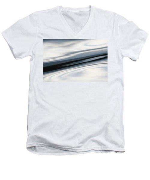 Men's V-Neck T-Shirt featuring the photograph Streak Of Blue by Cathie Douglas