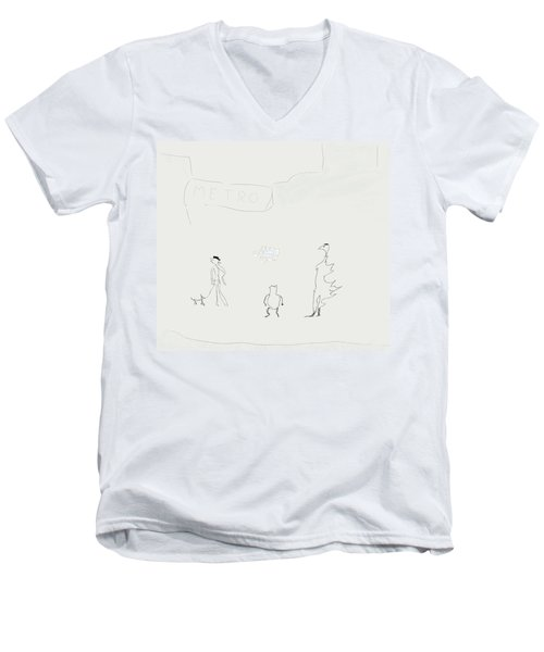 Street Apparition Men's V-Neck T-Shirt by Kevin McLaughlin