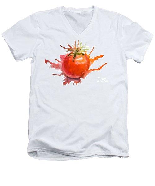 Stylized Illustration Of Tomato Men's V-Neck T-Shirt