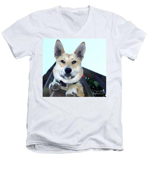 Sunny Men's V-Neck T-Shirt by Rory Sagner