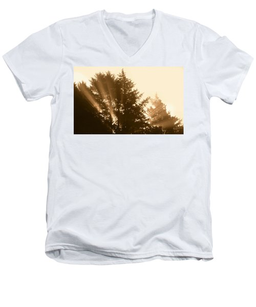 Sunrise In Sepia Men's V-Neck T-Shirt
