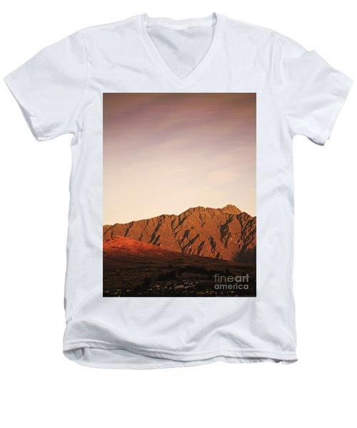 Sunset Mountain 2 Men's V-Neck T-Shirt