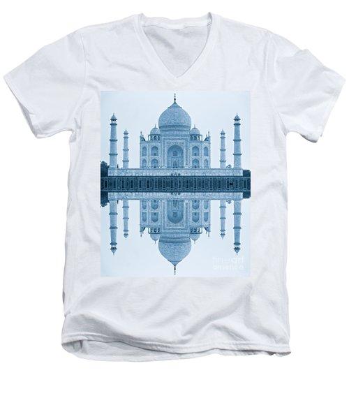 Men's V-Neck T-Shirt featuring the photograph Taj Mahal by Luciano Mortula