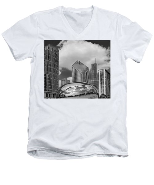 The Bean Chicago Illinois Men's V-Neck T-Shirt