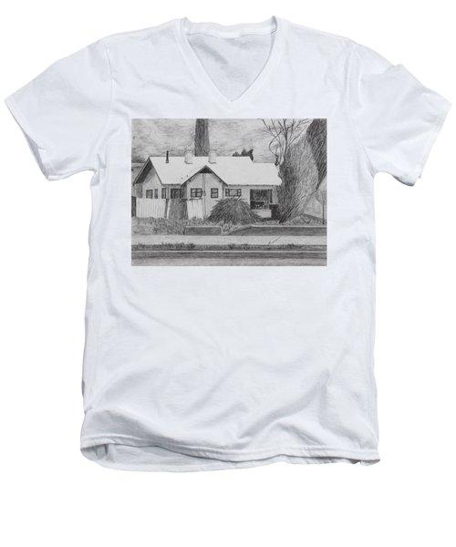 The House Across Men's V-Neck T-Shirt by Kume Bryant