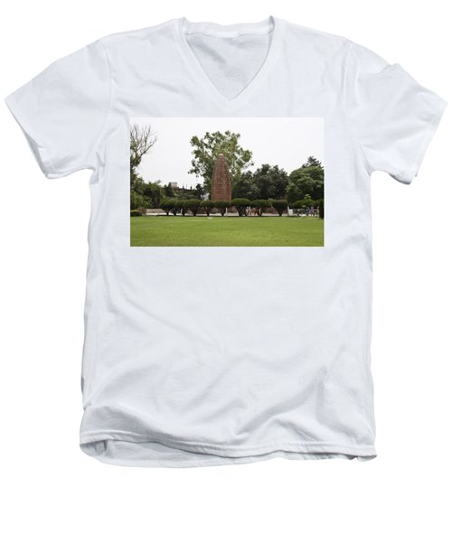 Men's V-Neck T-Shirt featuring the photograph The Jallianwala Bagh Memorial In Amritsar by Ashish Agarwal