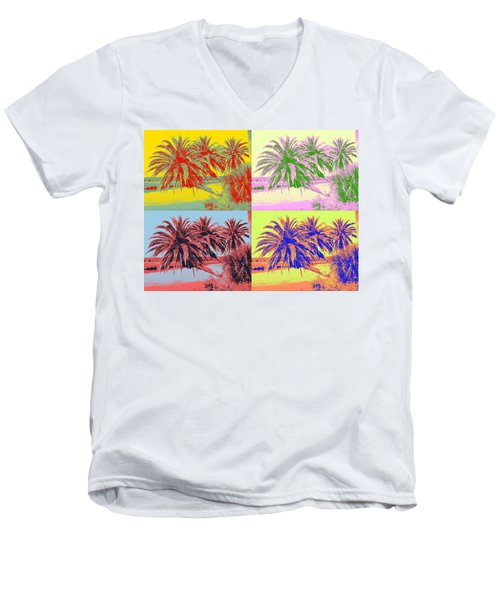 Men's V-Neck T-Shirt featuring the photograph The Loop In Pop Art by Alice Gipson