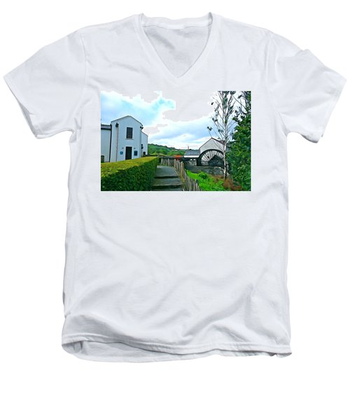 Men's V-Neck T-Shirt featuring the photograph The Mill by Charlie and Norma Brock