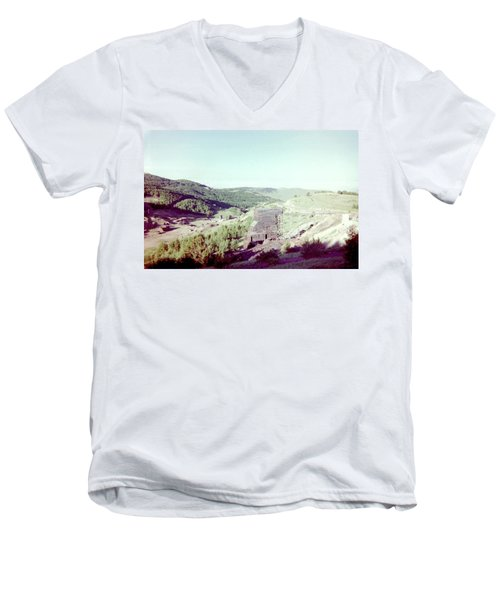 Men's V-Neck T-Shirt featuring the photograph The Mine by Bonfire Photography