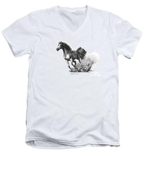 the Race is on  Men's V-Neck T-Shirt
