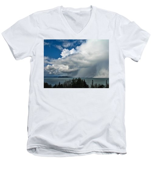 Men's V-Neck T-Shirt featuring the photograph The Wall by David Gleeson