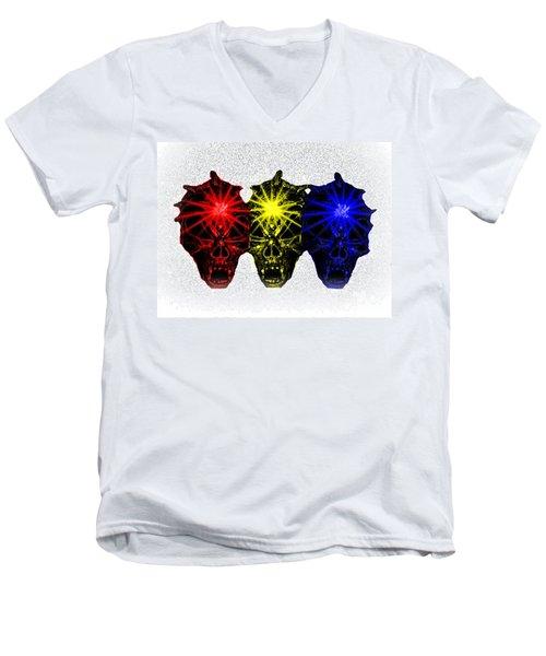 Men's V-Neck T-Shirt featuring the photograph Three Skulls by Blair Stuart