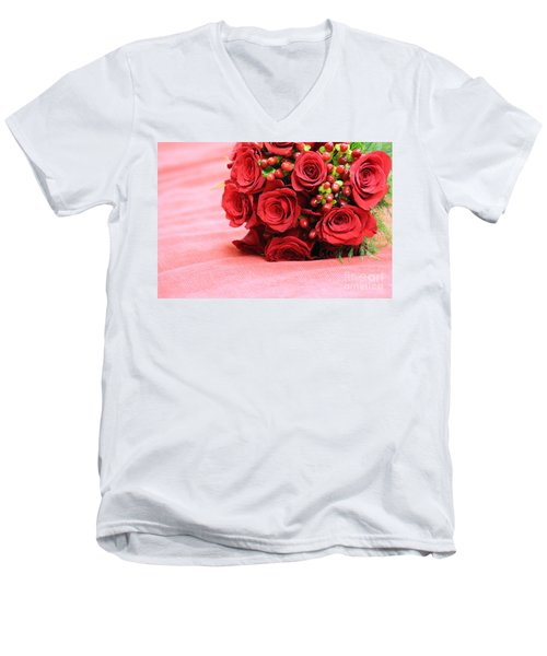 Touch Of Red Men's V-Neck T-Shirt