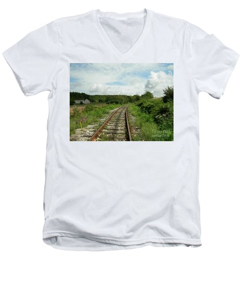Traveling Towards One's Dream Men's V-Neck T-Shirt