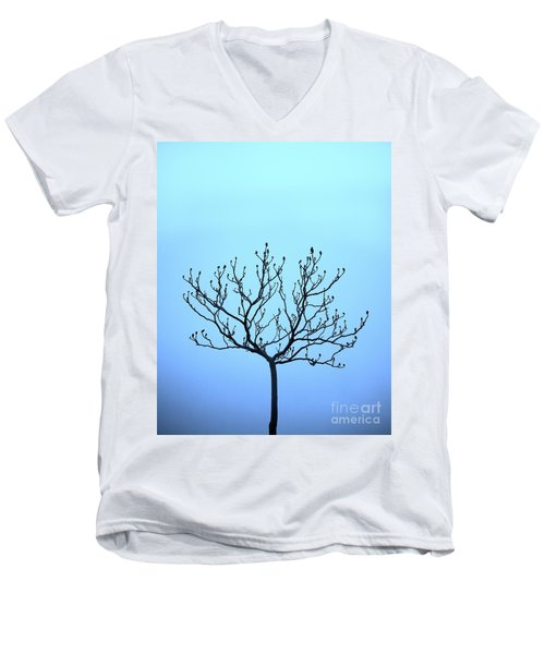 Tree With The Blues Men's V-Neck T-Shirt