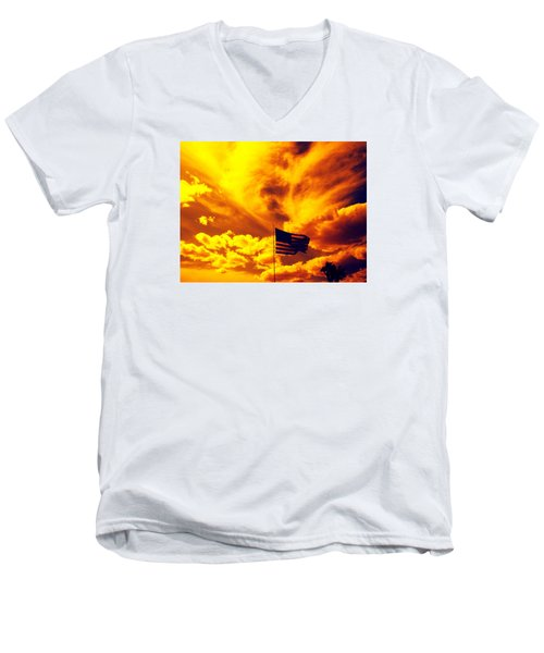 Turbulant America Men's V-Neck T-Shirt
