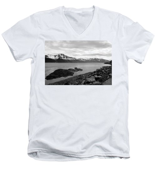 Turnagain Arm Alaska Men's V-Neck T-Shirt
