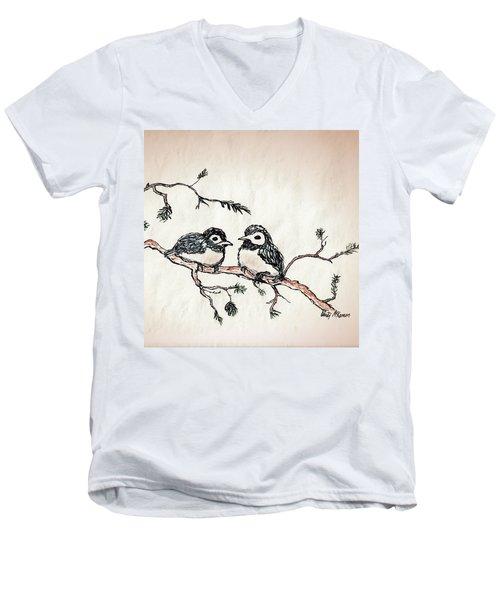 Two Birds Men's V-Neck T-Shirt
