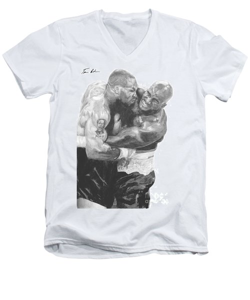Tyson Vs Holyfield Men's V-Neck T-Shirt