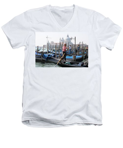 Venice Men's V-Neck T-Shirt by Mary-Lee Sanders