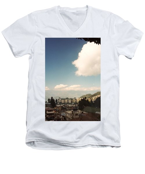 Men's V-Neck T-Shirt featuring the photograph View From The Window by Fotosas Photography