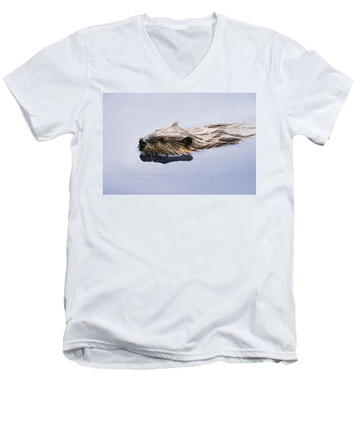 View Of Beaver, Chaudiere-appalaches Men's V-Neck T-Shirt by Yves Marcoux