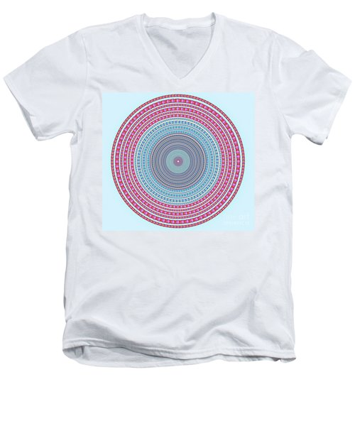 Vintage Color Circle Men's V-Neck T-Shirt