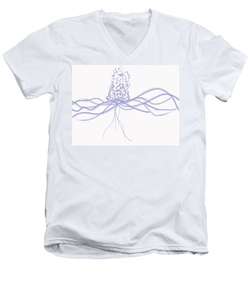 Waveflower Men's V-Neck T-Shirt by Kevin McLaughlin