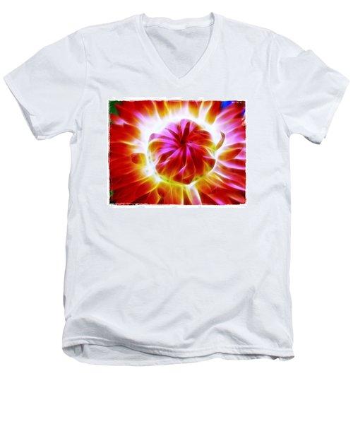 Whirling Men's V-Neck T-Shirt by Judi Bagwell
