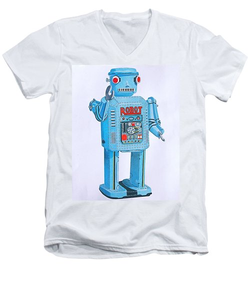 Wind-up Robot Men's V-Neck T-Shirt