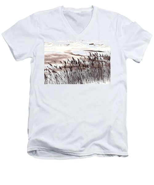 Winter Grasses Men's V-Neck T-Shirt