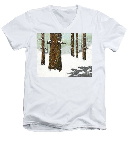 Wintering Pines Men's V-Neck T-Shirt