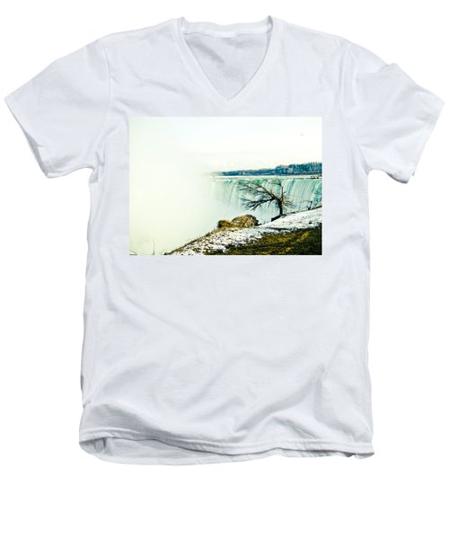 Men's V-Neck T-Shirt featuring the photograph Wonder by Sara Frank