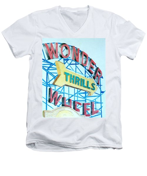 Wonder Wheel Men's V-Neck T-Shirt