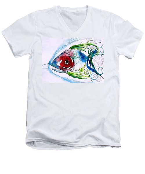 Wtfish 001 Men's V-Neck T-Shirt