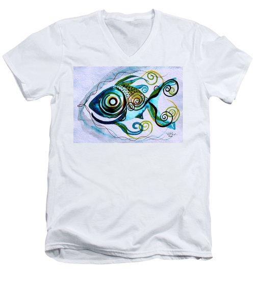 Wtfish 006 Men's V-Neck T-Shirt
