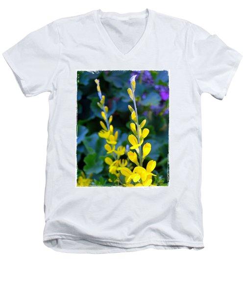 Yellow Plumes Men's V-Neck T-Shirt by Judi Bagwell