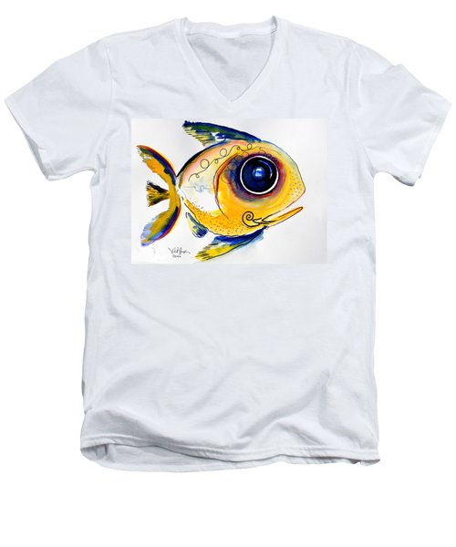Yellow Study Fish Men's V-Neck T-Shirt