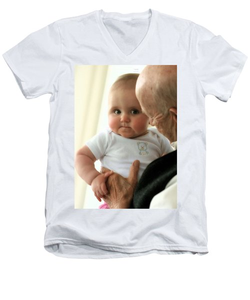 Young And Old Men's V-Neck T-Shirt