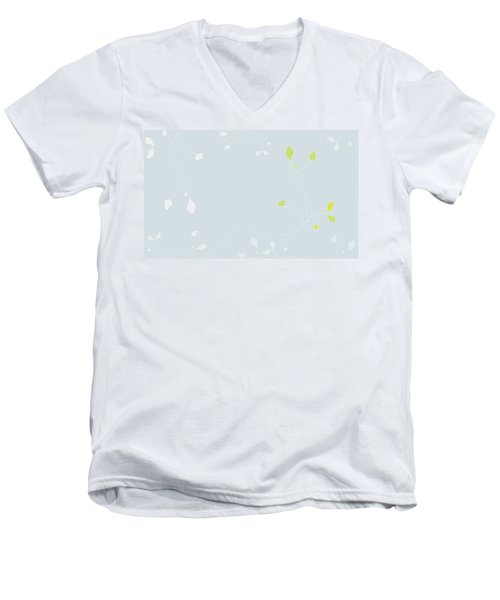 Young Poppy Men's V-Neck T-Shirt by Kevin McLaughlin