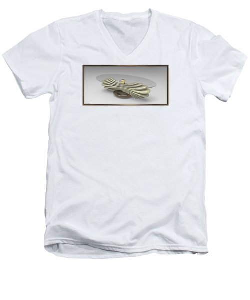 ' A Distorted Spring Table ' Men's V-Neck T-Shirt